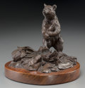 Fine Art - Sculpture, American:Contemporary (1950 to present), Clark Everice Bronson (American, b. 1939). It's Mine!, 1975.Bronze with brown patina. 5-1/2 inches (14.0 cm) high on a ...