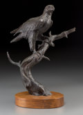 Sculpture, Clark Everice Bronson (American, b. 1939). Bald Eagle, 1971. Bronze with brown patina. 10-3/4 inches (27.3 cm) high on a...