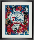 Basketball Collectibles:Others, 1982-83 Philadelphia 76ers Signed Photograph....