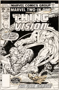 Original Comic Art:Covers, Ron Wilson and Pablo Marcos Marvel Two-In-One #39 CoverThing, Vision, and Daredevil Original Art (Marvel, 1978)....