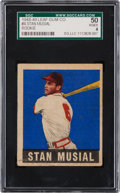 Baseball Cards:Singles (1940-1949), 1948 Leaf Stan Musial #4 SGC 50 VG/EX 4....