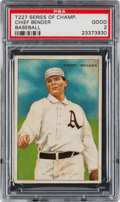 Baseball Cards:Singles (Pre-1930), 1912 T227 Miners Extra Chief Bender PSA Good 2. ...
