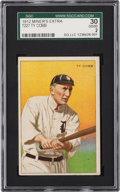 Baseball Cards:Singles (Pre-1930), 1912 T227 Miners Extra Ty Cobb SGC 30 Good 2. ...