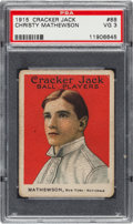 Baseball Cards:Singles (Pre-1930), 1915 Cracker Jack Christy Mathewson #88 PSA VG 3....