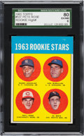 Baseball Cards:Singles (1960-1969), 1963 Topps Pete Rose - 1963 Rookie Stars #537 SGC 80 EX/NM 6. ...