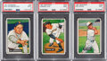 Baseball Cards:Lots, 1951 Bowman Baseball PSA Mint 9 Trio (3). ...