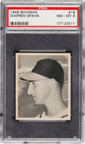 Baseball Cards:Singles (1940-1949), 1948 Bowman Warren Spahn #18 PSA NM-MT 8....