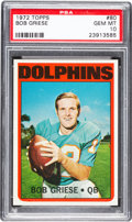 Football Cards:Singles (1970-Now), 1972 Topps Bob Griese #80 PSA Gem Mint 10 - Pop Eight....