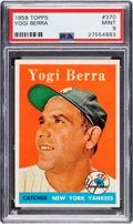 Baseball Cards:Singles (1950-1959), 1958 Topps Yogi Berra #370 PSA Mint 9 - Only One Higher....