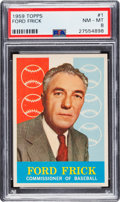 Baseball Cards:Singles (1950-1959), 1959 Topps Ford Frick #1 PSA NM-MT 8....