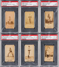 Baseball Cards:Lots, 1887 N172 Old Judge PSA-Graded Group (6). ...