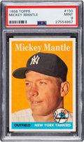 Baseball Cards:Singles (1950-1959), 1958 Topps Mickey Mantle #150 PSA Mint 9 - None Higher....