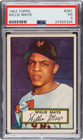 Baseball Cards:Singles (1950-1959), 1952 Topps Willie Mays #261 PSA VG 3....