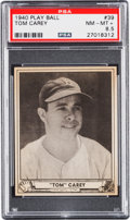 Baseball Cards:Singles (1940-1949), 1940 Play Ball Tom Carey #39 PSA NM-MT+ 8.5 - Pop One, None Higher!...