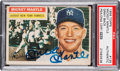 Autographs:Sports Cards, Signed 1956 Topps Mickey Mantle #135 PSA/DNA Authentic....