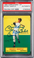 Autographs:Sports Cards, Signed 1964 Topps Stand-Up Mickey Mantle PSA/DNA Authentic....