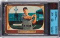 Autographs:Sports Cards, Signed 1955 Bowman Mickey Mantle #202 BVG/JSA Authentic. ...
