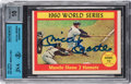 Autographs:Sports Cards, Signed 1961 Topps Mantle Home Runs - World Series Game 2 #307 Beckett 10 Autograph. ...