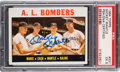 Autographs:Sports Cards, Signed 1964 Topps A.L. Bombers (Mantle) #331 PSA EX 5. ...