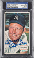 Autographs:Sports Cards, Signed 1964 Topps Giants Mickey Mantle #25 PSA/DNA Authentic. ...