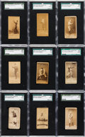 Baseball Cards:Lots, 1887 N172 Old Judge SGC-Graded Collection (9). ...