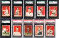 Baseball Cards:Lots, 1915 Cracker Jack Graded Collection (10) - Stars & HoFers. ...