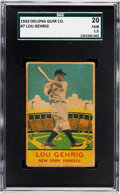Baseball Cards:Singles (1930-1939), 1933 Delong Lou Gehrig #7 SGC 20 Fair 1.5....