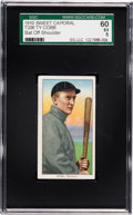 Baseball Cards:Singles (Pre-1930), 1909-11 T206 Sweet Caporal Ty Cobb (Bat Off Shoulder) SGC 60 EX 5....