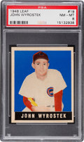 Baseball Cards:Singles (1940-1949), 1948 Leaf John Wyrostek #19 PSA NM-MT 8....