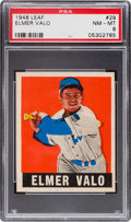 Baseball Cards:Singles (1940-1949), 1948 Leaf Elmer Valo #29 PSA NM-MT 8....