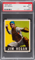 Baseball Cards:Singles (1940-1949), 1948 Leaf Jim Hegan #28 PSA NM-MT+ 8.5 - Pop Two, None Higher. ...