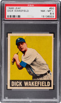 Baseball Cards:Singles (1940-1949), 1948 Leaf Dick Wakefield #50 PSA NM-MT+ 8.5 - Pop Three, NoneHigher. ...