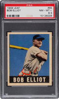 Baseball Cards:Singles (1940-1949), 1948 Leaf Bob Elliot #65 PSA NM-MT+ 8.5 - Pop One, One Higher. ...