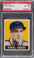 Baseball Cards:Singles (1940-1949), 1948 Leaf Orval Grove #66 PSA NM-MT 8 - Pop Five, None Higher. ...