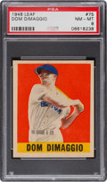 Baseball Cards:Singles (1940-1949), 1948 Leaf Dom DiMaggio #75 PSA NM-MT 8 - Pop Two, None Higher. ...