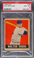 Baseball Cards:Singles (1940-1949), 1948 Leaf Walter Evers #78 PSA NM-MT 8 - Only One Higher. ...