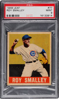 Baseball Cards:Singles (1940-1949), 1948 Leaf Roy Smalley #77 PSA Mint 9 - Pop Two, None Higher. ...