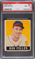 Baseball Cards:Singles (1940-1949), 1948 Leaf Bob Feller #93 PSA NM-MT 8 - Pop Six, None Higher....