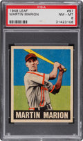 Baseball Cards:Singles (1940-1949), 1948 Leaf Martin Marion #97 PSA NM-MT 8....