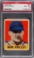 Baseball Cards:Singles (1940-1949), 1948 Leaf Dave Philley #85 PSA NM-MT 8....