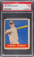 Baseball Cards:Singles (1940-1949), 1948 Leaf Edward Stewart #104 PSA NM 7....