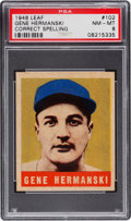Baseball Cards:Singles (1940-1949), 1948 Leaf Gene Hermanski (Correct) #102 PSA NM-MT 8....