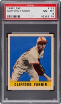 Baseball Cards:Singles (1940-1949), 1948 Leaf Clifford Fannin #123 PSA NM-MT 8....