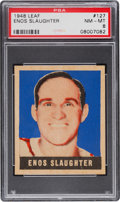 Baseball Cards:Singles (1940-1949), 1948 Leaf Enos Slaughter #127 PSA NM-MT 8....
