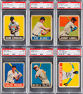 Baseball Cards:Lots, 1948 Leaf Baseball PSA-Graded Group (6). ...