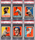 Baseball Cards:Lots, 1948 Leaf Baseball PSA-NM-MT 8 Group (6). ...