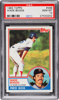 Baseball Cards:Singles (1970-Now), 1983 Topps Wade Boggs #498 PSA Gem Mint 10....