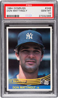 Baseball Cards:Singles (1970-Now), 1984 Donruss Don Mattingly #248 PSA Gem Mint 10....