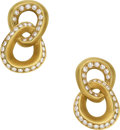 Estate Jewelry:Earrings, Diamond, Gold Earrings, Angela Cummings. ...