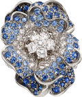 Estate Jewelry:Rings, Diamond, Sapphire, White Gold Ring, Leo Pizzo. ...